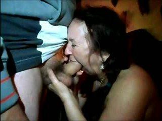 mollig, bbw, sperma im mund
