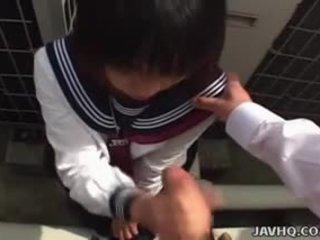 Japonez scolarita sucks pula uncensored