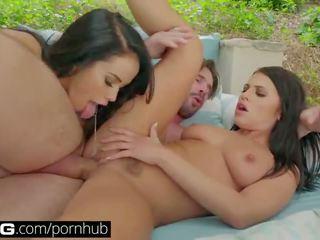 Bang กอนโซ: megan & adriana a เซ็กส์สามคน เพศสัมพันธ์ fest