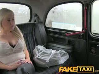 FakeTaxi Big tits blonde has hot sex with taxi driver