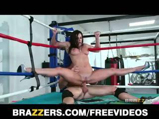 Big tit Kendra Lust fucks a wrestling champion in the ring