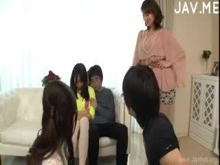 japonés, sexo en grupo, mamada