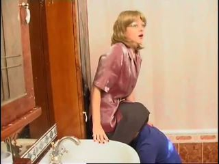 Mature Lady Having Sex in the bathroom