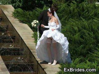 결혼식 일 upskirts!