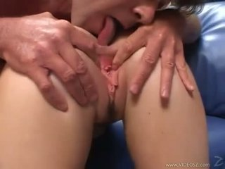 Elizabeth lawrence gets her nyenyet little bokong fucked while being fingered