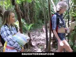 DaughterSwap- Horny Daughters Fuck Dads on Camping Trip <span class=duration>- 10 min</span>