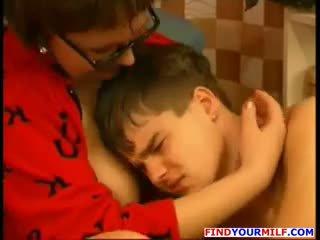 Russian Cougar Seduce Her Teen Son