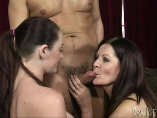 tits, brunete, blowjobs