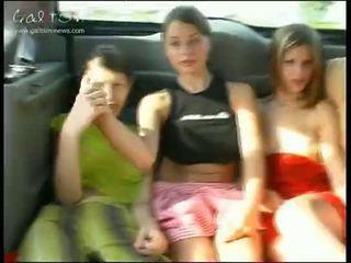 young, girls, public