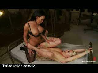 Big boner ts fucks tied up pirang in metal frame bed