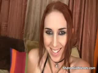 Naughty tattooed Red head slut getting fucked and facialized on bed