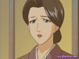 Hentai milf gets drilled and masturbated