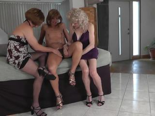 crossdresser, threesome, amatöör