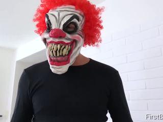 FirstBGG.com - Luna Corazon and Daisy- Evil clown attacks two girlfriends