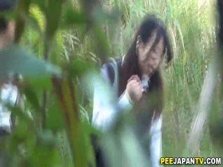 Goldenshower asians urine