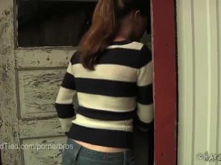 brunette, tra tấn, đau đớn