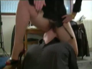 Hairy French Mature Lady and Young Slave, Porn 4b