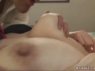 जपानीस मिल्फ gets fingered और गड़बड़ uncensored
