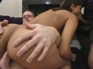 Two fat cocks for one little indian 18yo girl