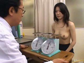 Japoniškas av modelis miela ofisas mergaitė