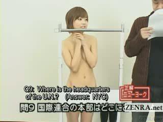 Subtitled japońskie quiz pokaz z nudyści japonia student