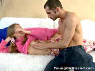 Winsome zlato haired najstnice gal trinity acquires pink muca shaged