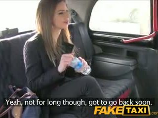 FakeTaxi Stunning brunette takes it from behind in taxi sextape