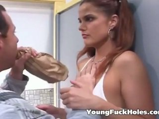 brunette, jeune, assfucking