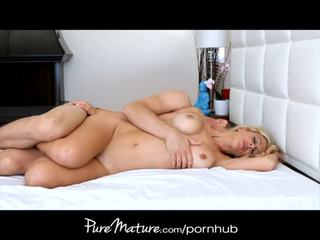 Puremature blondin hemmafru rides morgon kuk