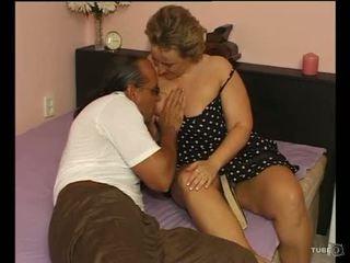 Een sexy mollig dame loves seks