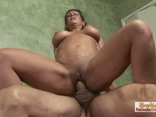 Paranoid wife apologizes to her husband with a hard fuck