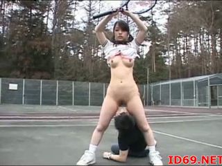 Japansk knullet under tennis spill