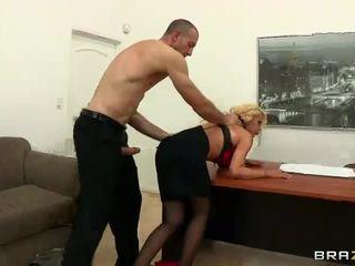 big tits, office, facial