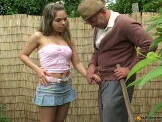 Fucking.on.a.green.garden.lawn