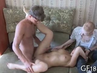 See how this big muscular stranger begins massaging
