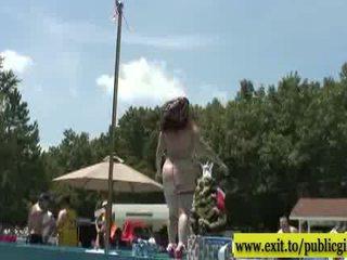 امرأة سمراء, bigtits, في الهواء الطلق