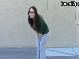 Ineed2pee 32 trailer female pee desperation & wetting