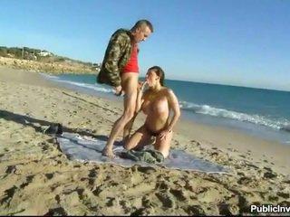 Huge boobs Aletta fucked by the ocean