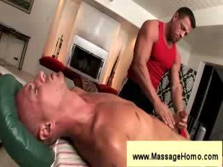 Troy Michaels gives blowjob to masseuse