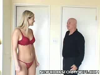 Blonde House Wife boner Gagged