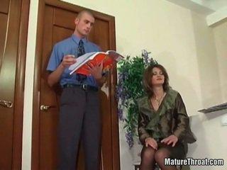 výstrek, kancelária sex, milf sex