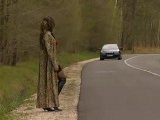 francés, al aire libre, prostituta