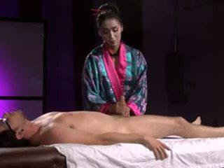 japonês, massagem, chinês