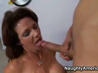 Busty TAnned MomMa Deauxma Merits The Spunk Flow That Babe Receives After A Nice Bang