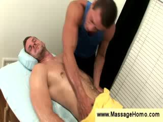 Masseuse grabs hold of a guys dong