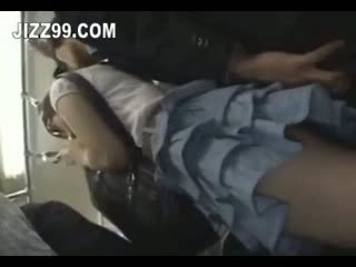 Cute Schoolgirl Fucked By Geek On Train 04