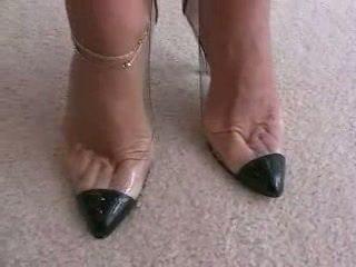 sapatos de salto alto, fetiche, footjob