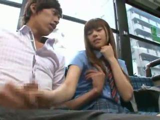 Rina rukawa sleaze كوري fuzz gives ل kiss onto ل حافلة
