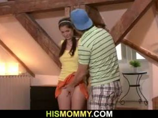 Tied up gf gets used by her bf s mom