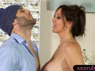 echt brunette, kijken grote borsten zien, kijken likken nieuw